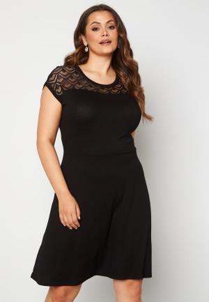 Only Carmakoma Flake Life SS Knee Dress Black 54 (XL)