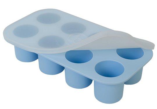 Barnmatsburken Porsjonsform Med Lokk, Blå