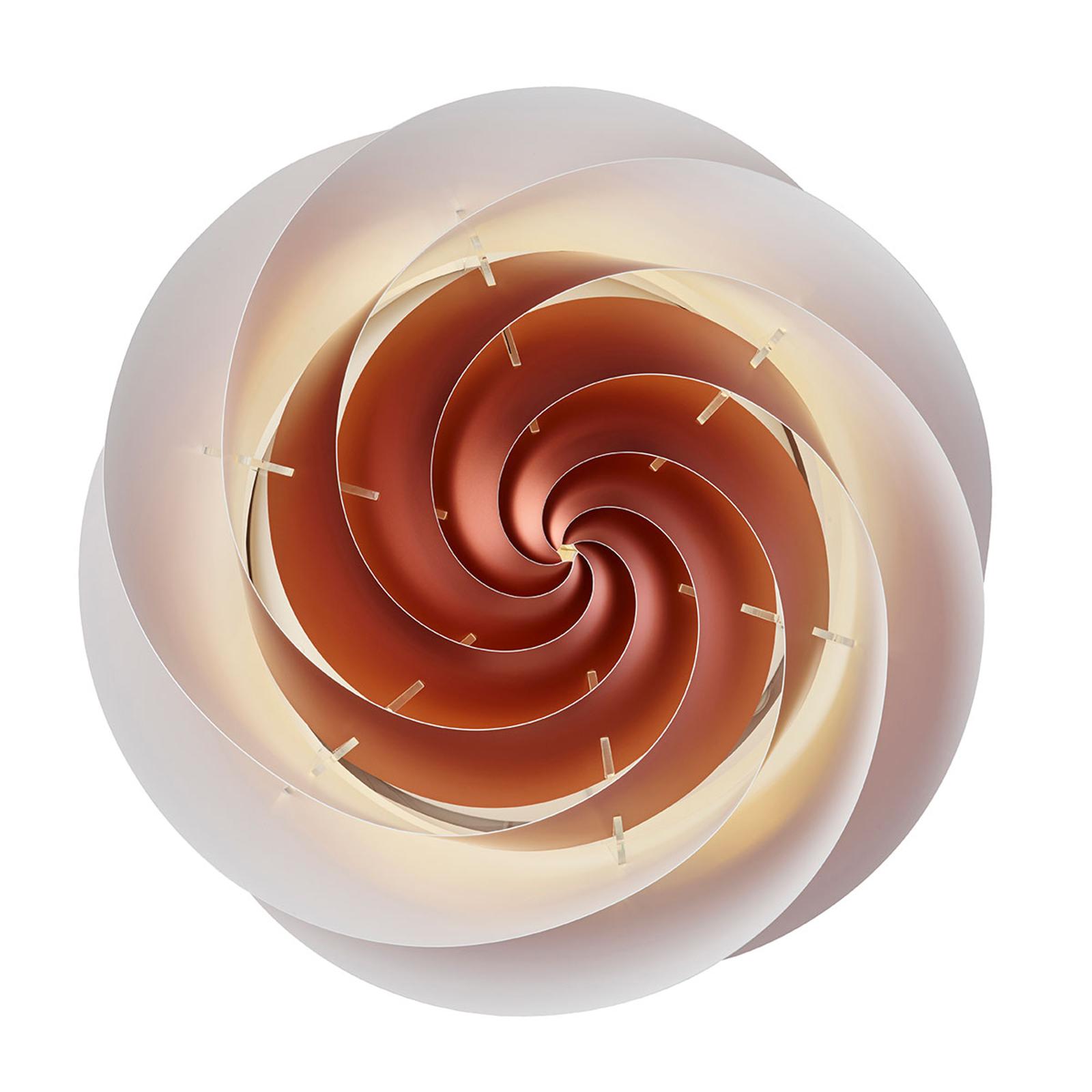 LE KLINT Swirl Large -seinävalaisin kuparinvärinen