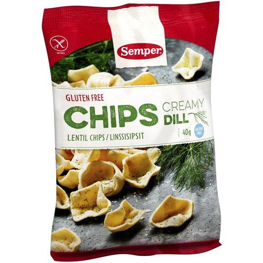 "Linssisipsit ""Creamy Dill"" 40g - 34% alennus"