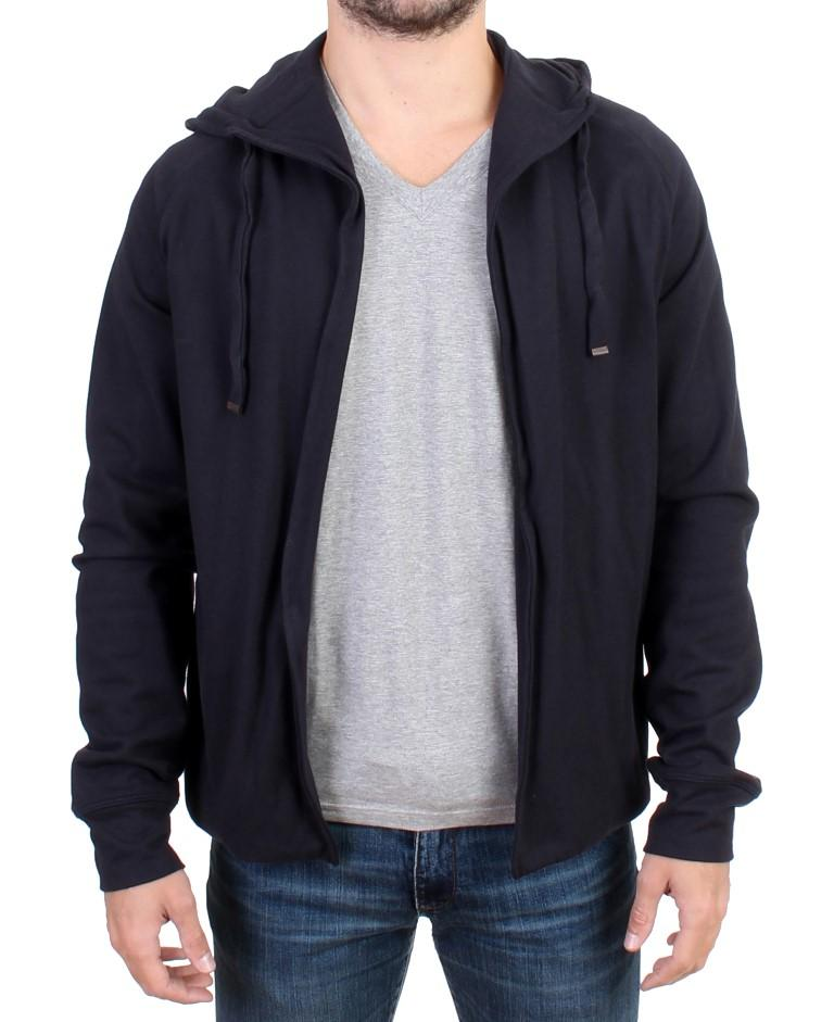 Costume National Men's hooded Cotton Sweater Blue SIG10862 - IT48 | M