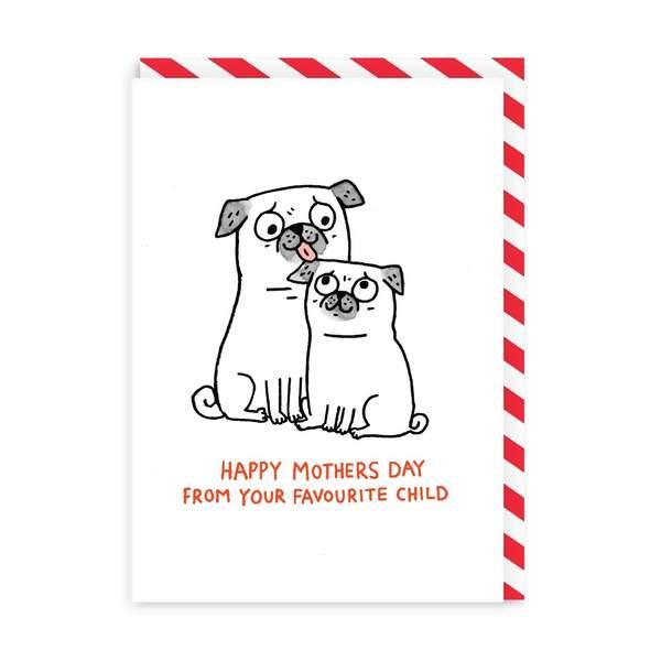 Mum, Favourite Child Greeting Card