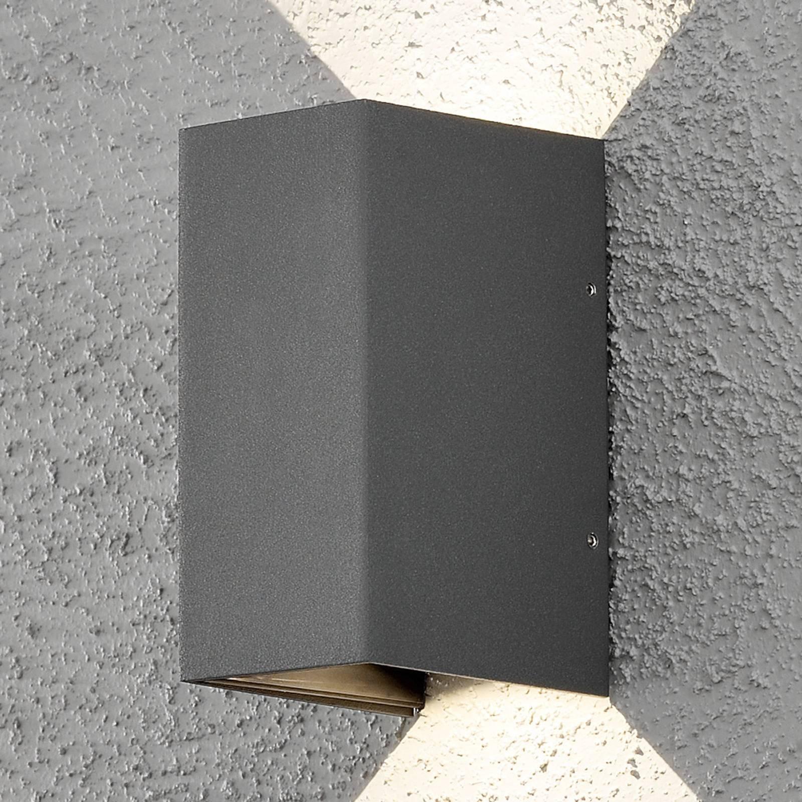 Utendørs LED-vegglampe Cremona 8 cm antrasitt