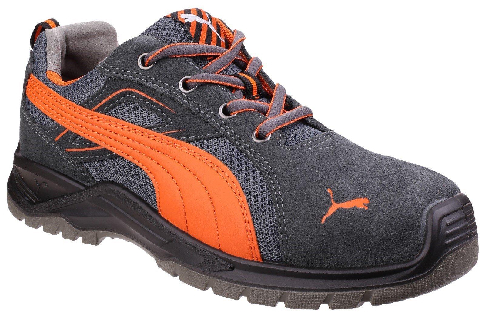 Puma Safety Unisex Omni Flash Low Lace up Trainer Orange 24856 - Orange 6.5