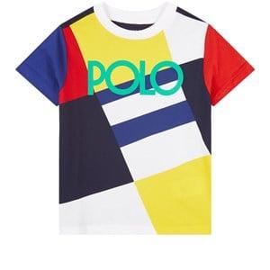 Ralph Lauren Colorblock T-shirt Vit 2 år