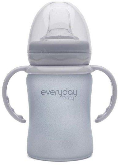 Everyday Baby Barnekopp i Glass m. Drikketut150ml, Grey