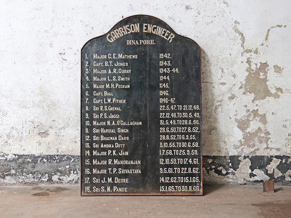 Old Dinapore Garrison Noticeboard Black