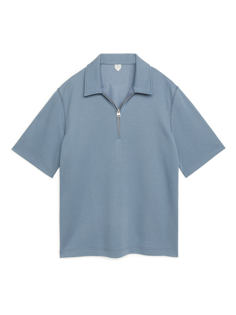 Zipped Polo Shirt - Blue