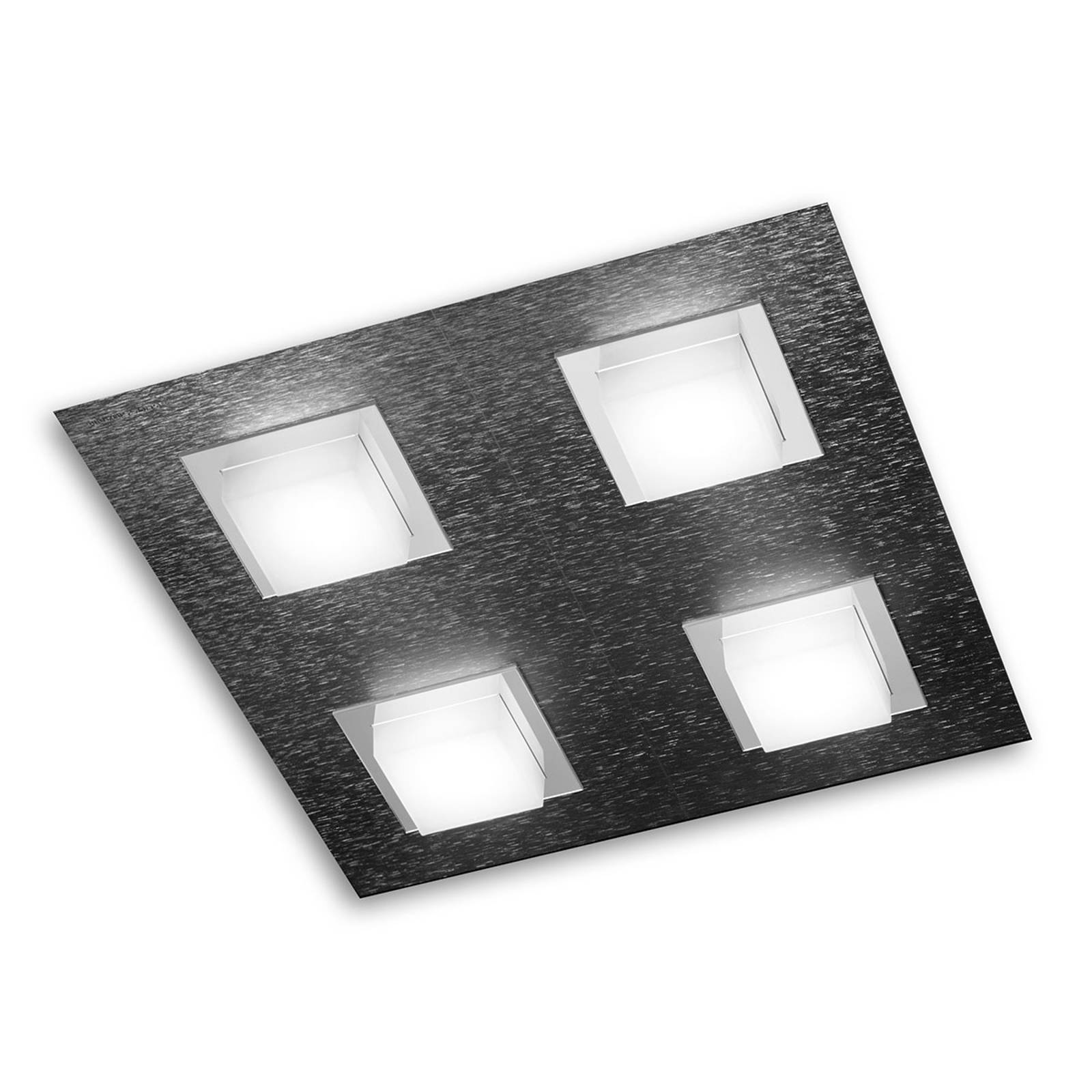 GROSSMANN Basic LED-valaisin 4-lampp., antrasiitti