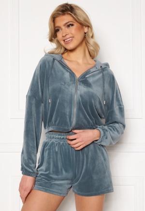 ONLY Laya L/S Zip Hood Blue Mirage L