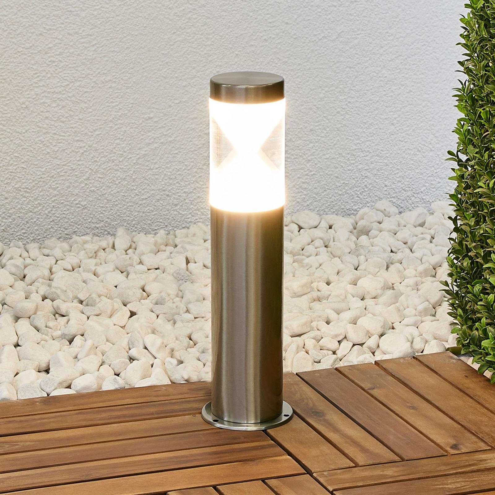 Tiimalasia muistuttava Fabrizio-LED-pollarilamppu