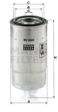 Polttoainesuodatin MANN-FILTER WK 854/3