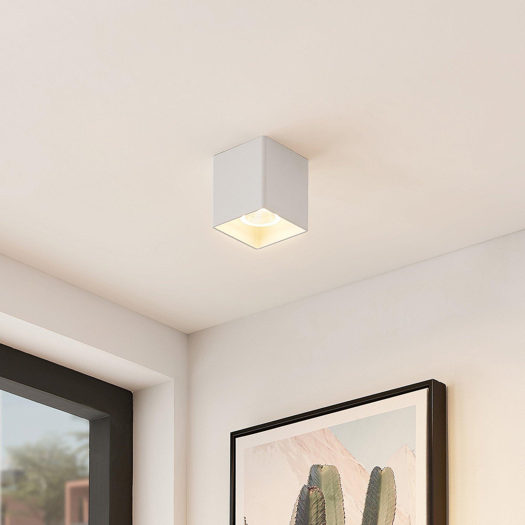 Arcchio Zaki LED-taklampe, kantet, hvit