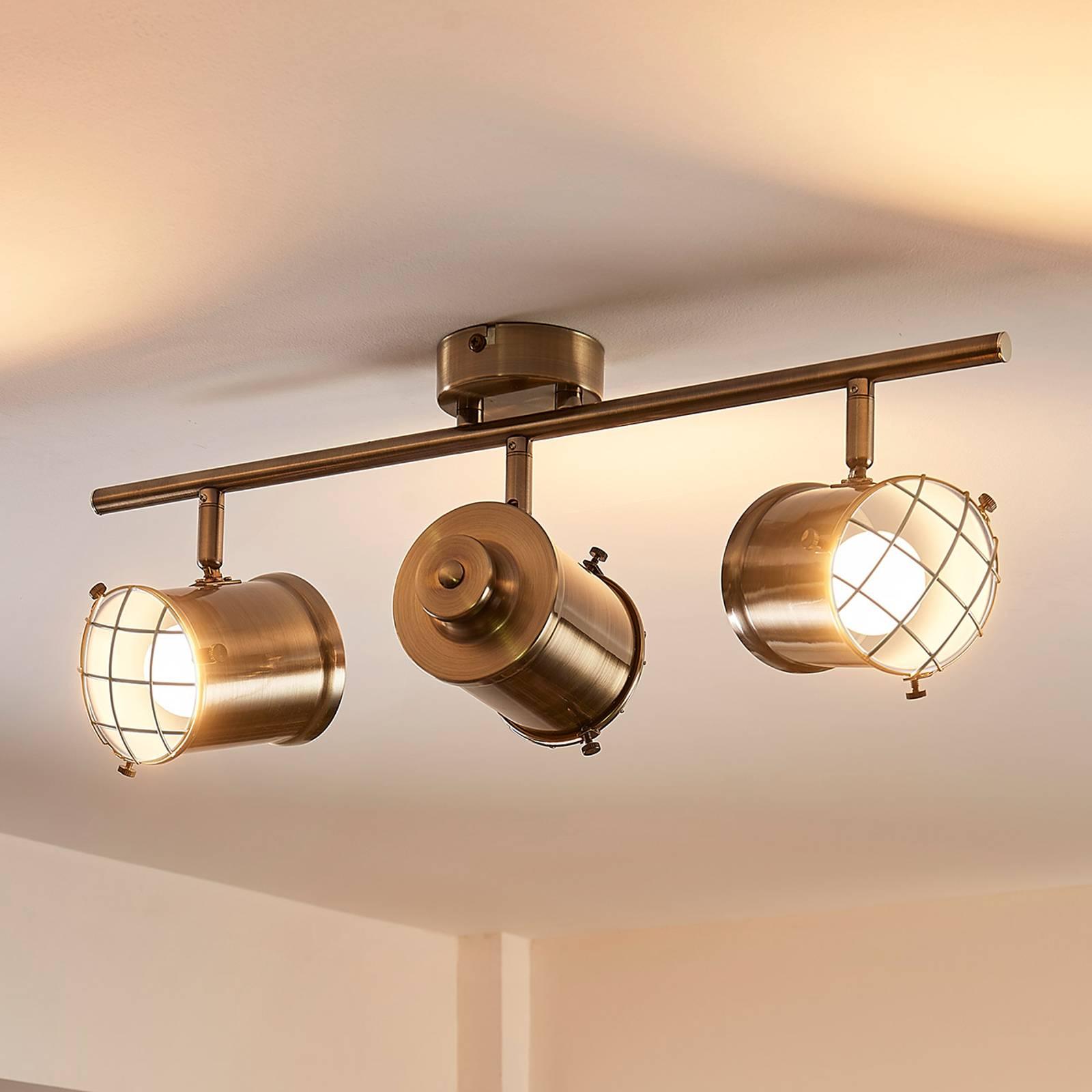 3-lamppuinen Easydim-kattolamppu Ebbi, LEDeillä