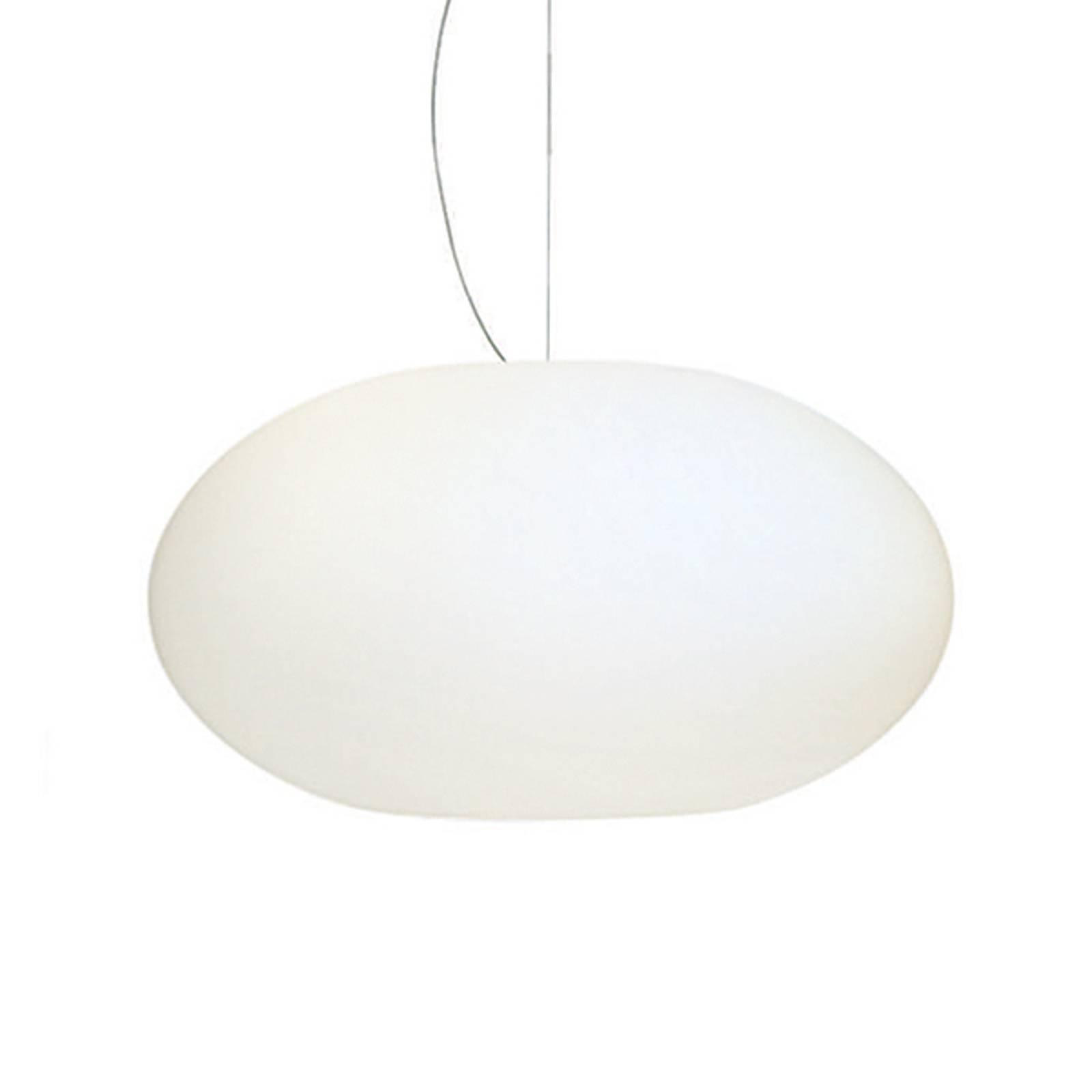 AIH-riippuvalaisin lasia 38 cm, matta valkoinen