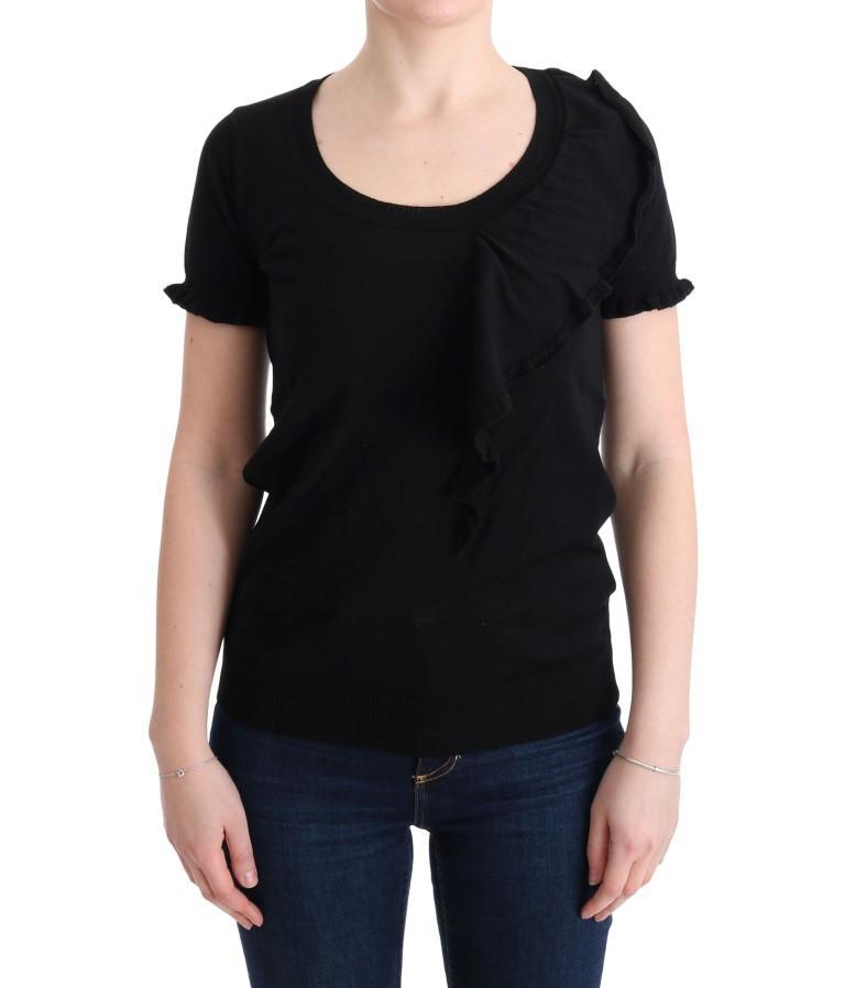 MARGHI LO' Women's Lana Wool Top Black SIG30146 - IT46|XL