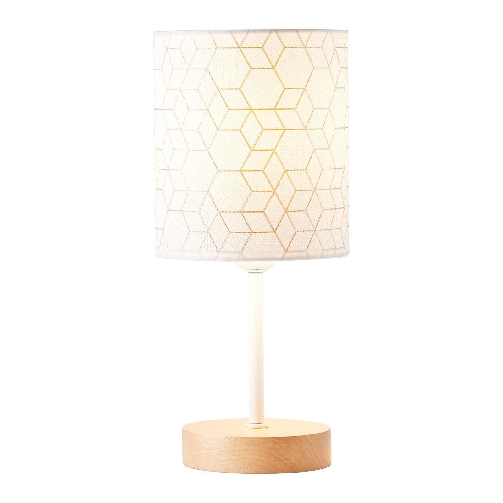 Bordlampe Galance, hvit med trefot