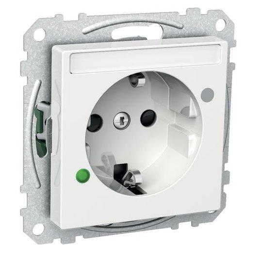 Schneider Electric Exxact Seinäpistorasia 1-osainen, 16A, ylijännitesuoja