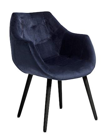 Matsalsstol med armstöd Blå Velour