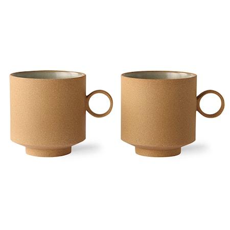 Bold & Basic Ceramics KaffeMugg Ochre 2 st
