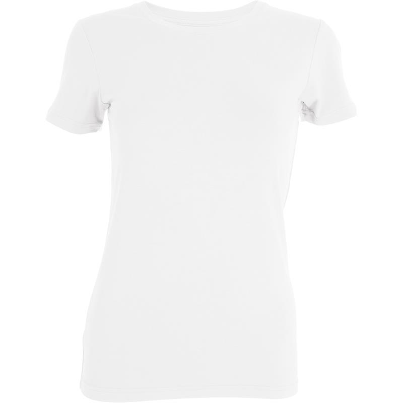 Tufte Crew Neck t-shirt S Bright White - Dame