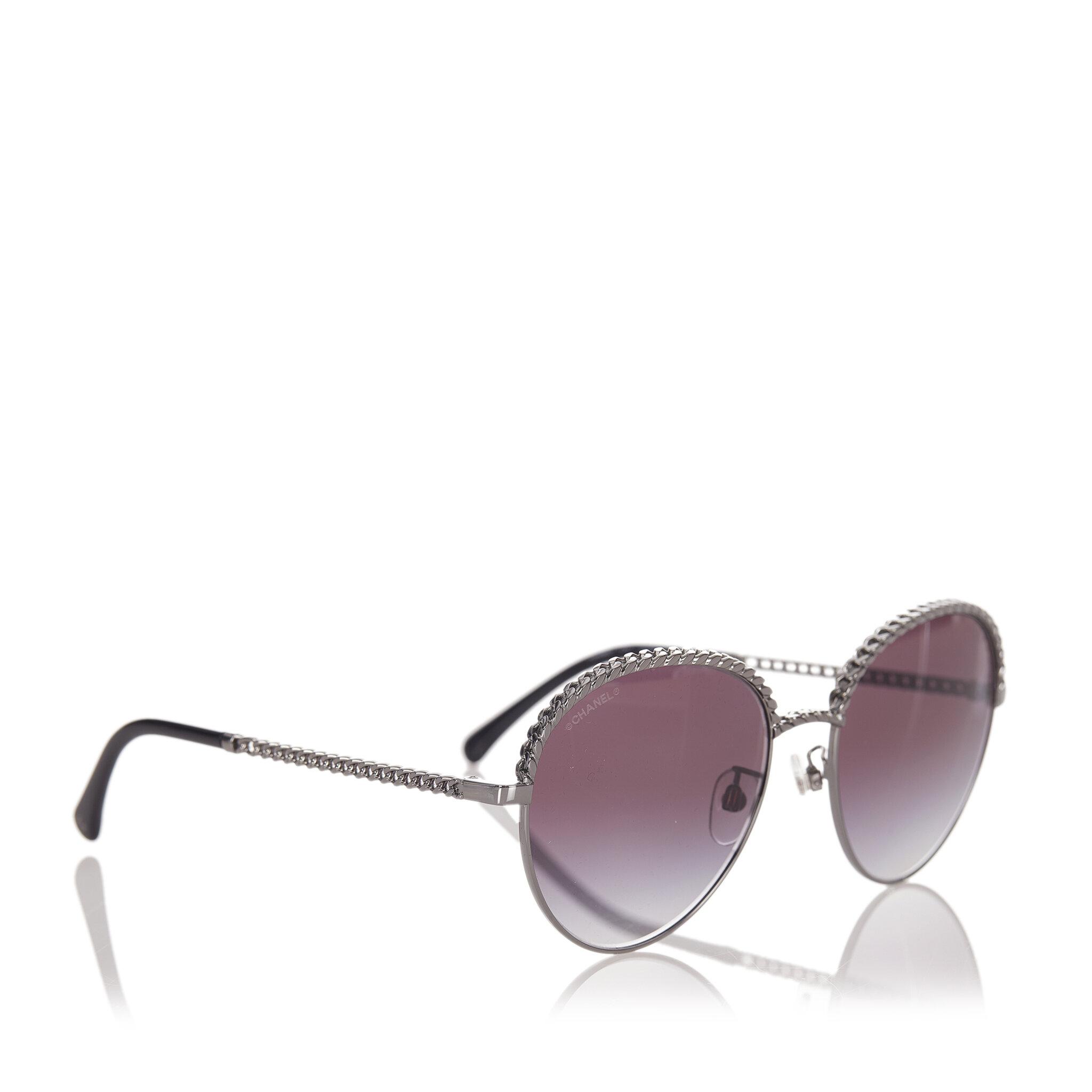 Chanel Round Tinted Sunglasses, ONESIZE