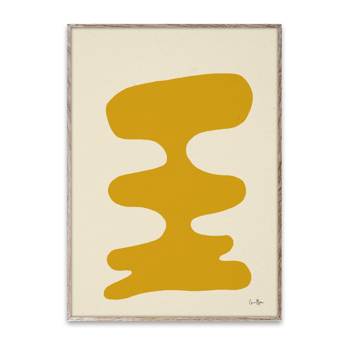 Paper Collective Poster Soft Yellow 30x40 cm