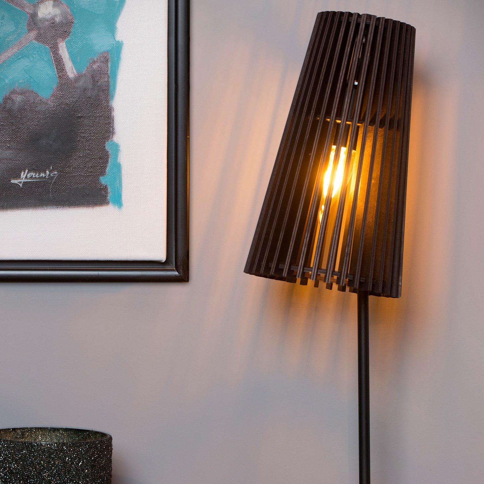 Noralie bordlampe med trelameller-skjerm