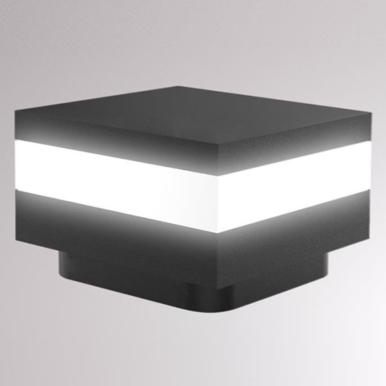 LOUM Mash LED-sokkellampe IP65 antrasitt
