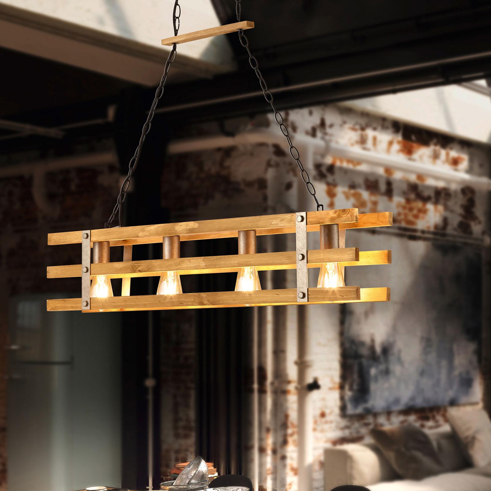 Riippuvalaisin Khan, vintage-design, 4-lamppuinen