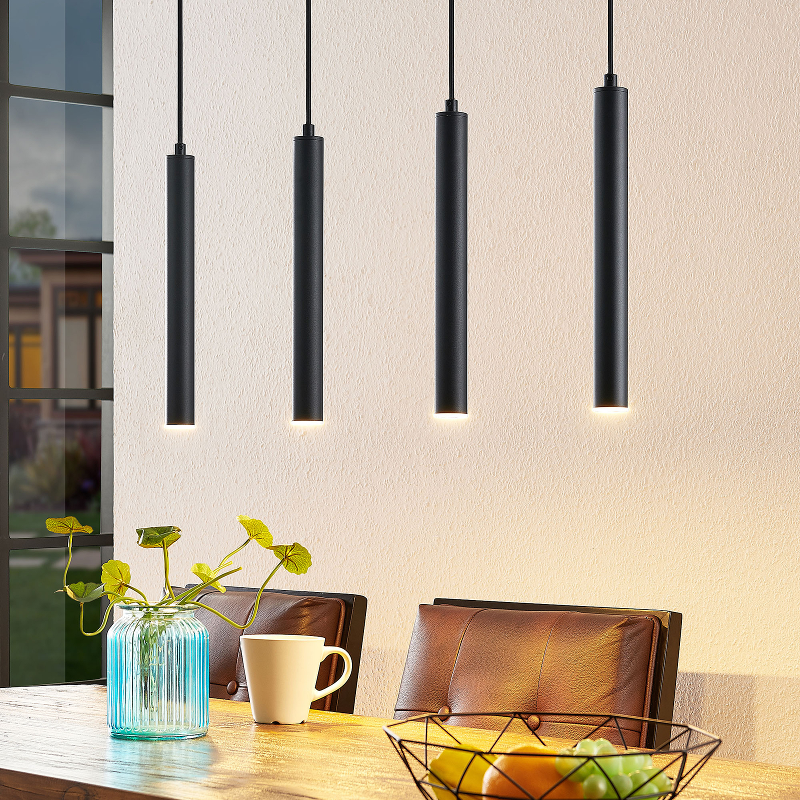 Arcchio Kammeron -LED-riippuvalaisin musta
