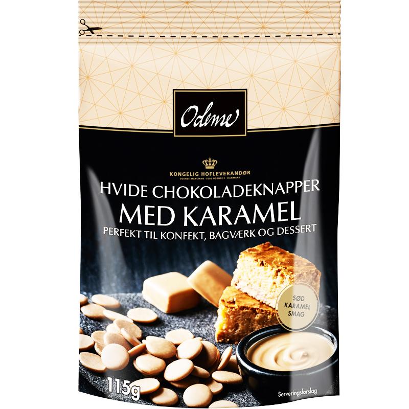 Vitchokladknappar med Karamel - 37% rabatt