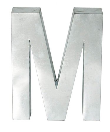 Metallvetica bokstav - M