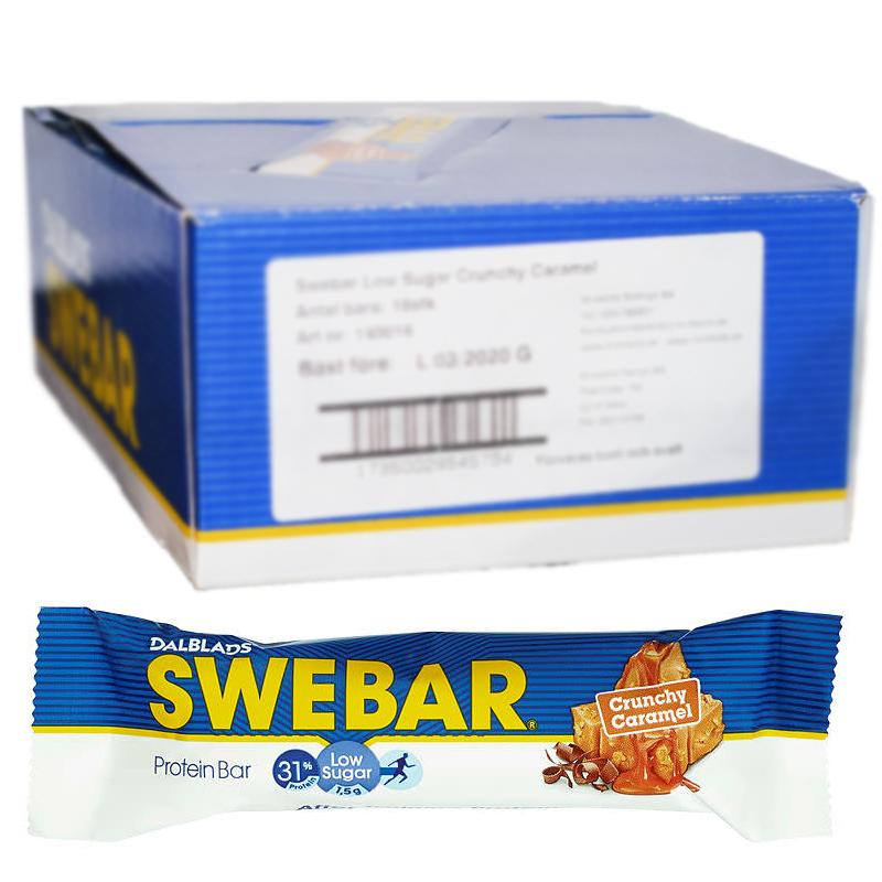 Proteiinipatukoita Crunchy Caramel 18kpl - 39% alennus