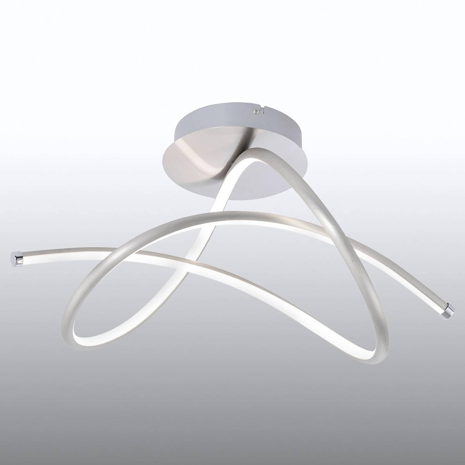 LED-taklampe Violetta, livfull, stål