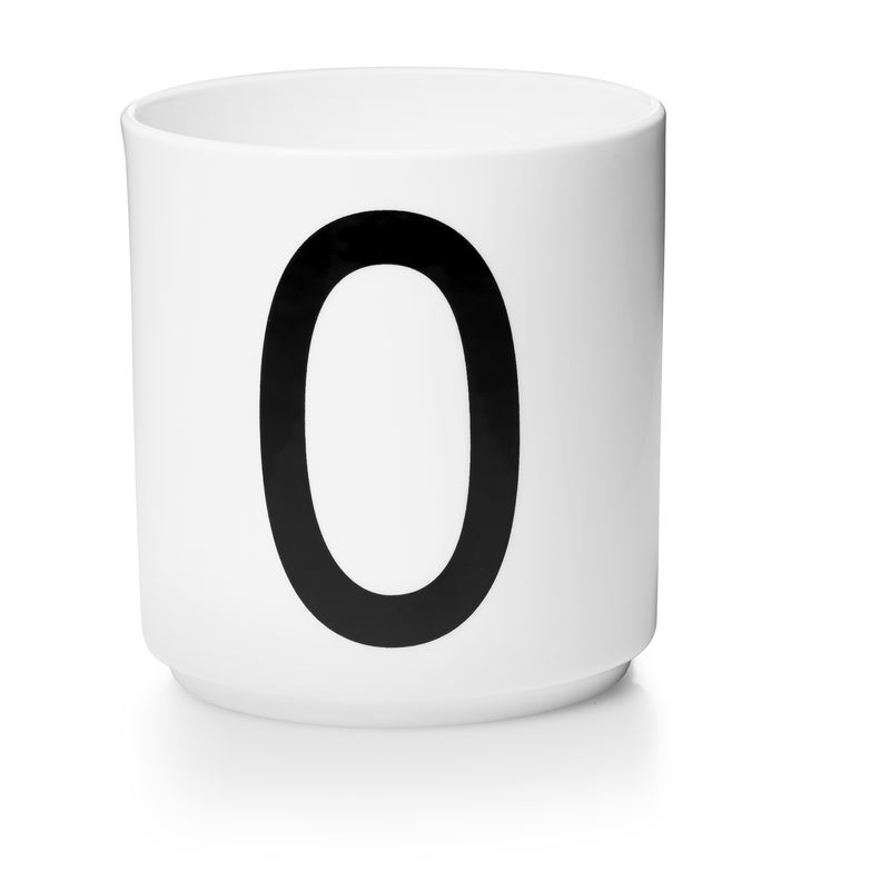 Design Letters - Personal Porcelain Cup O - White