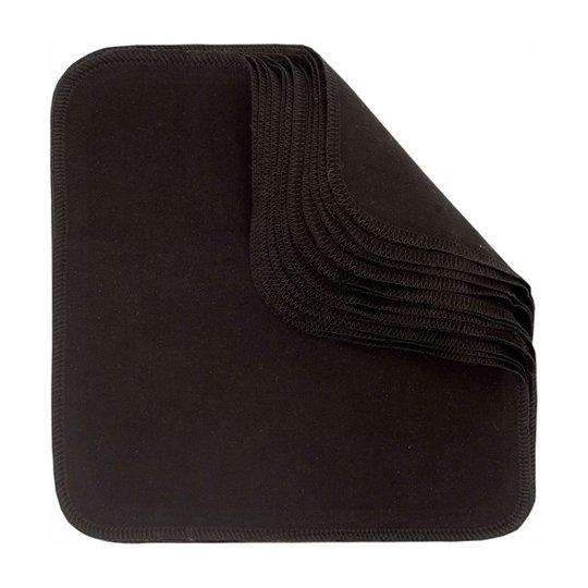 ImseVimse Tvättlappar av ekologisk bomull - Svart, 10-pack