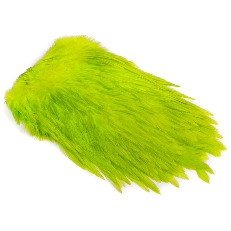 Feathermaster Rooster Cape FL green/char Fl. Green Chartreuse