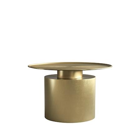 Pillar Soffbord Low Brass Antique