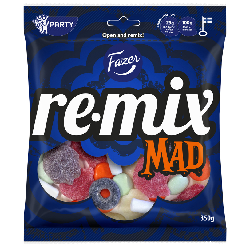 """Remix Mad"" Makeispussi 350g - 29% alennus"