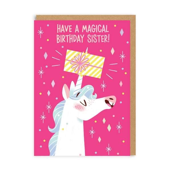 Unicorn Sister Greeting Card