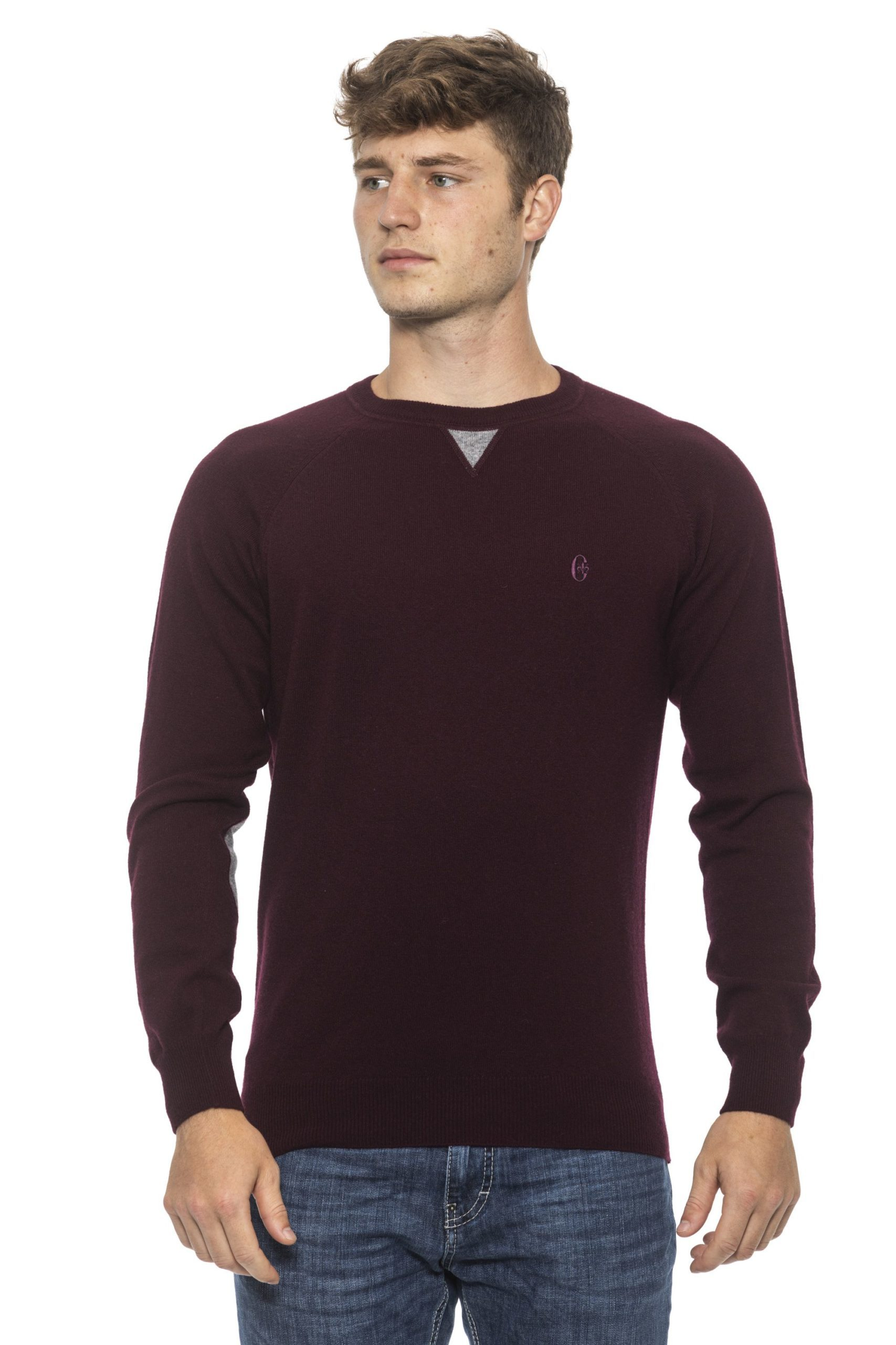 Conte of Florence Men's Sweater Burgundy CO1272757 - S