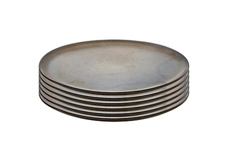 Raw Middagstallerken Metallic Brown 6 stk. 28 cm