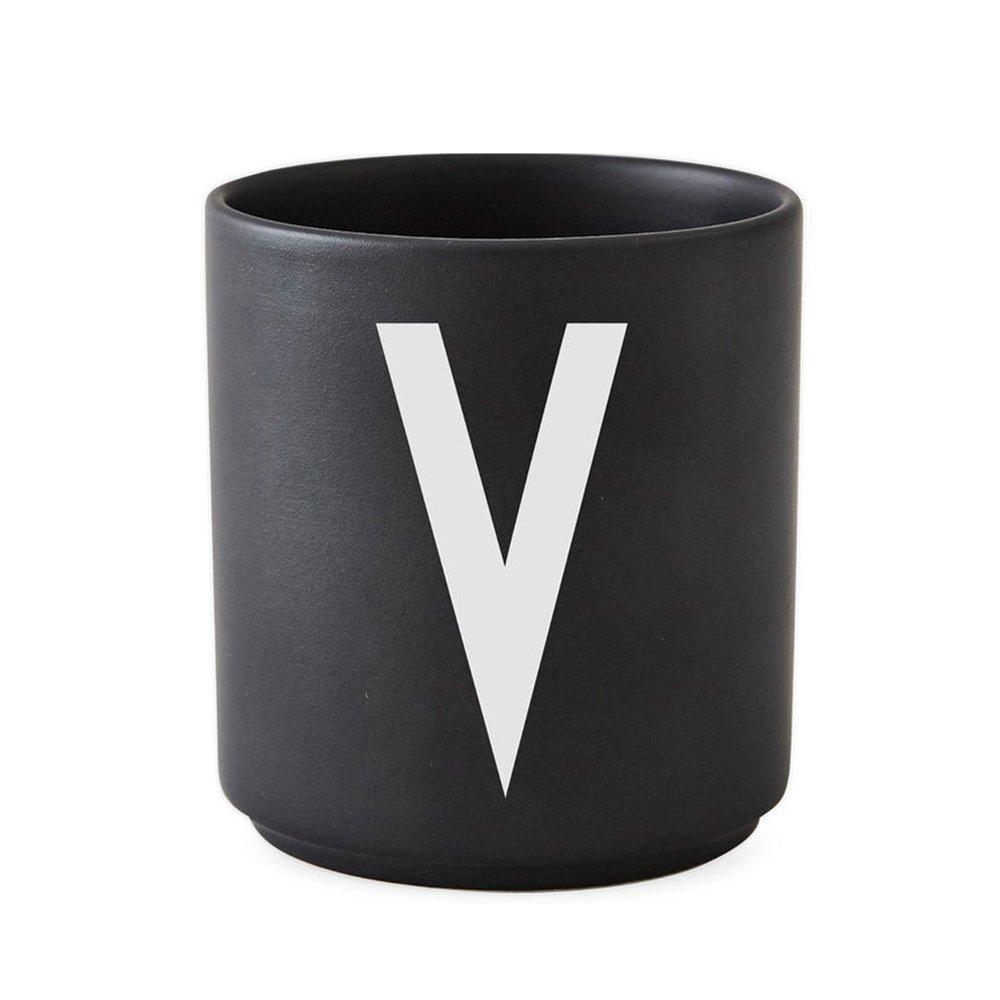 Design Letters - Personal Porcelain Cup V - Black