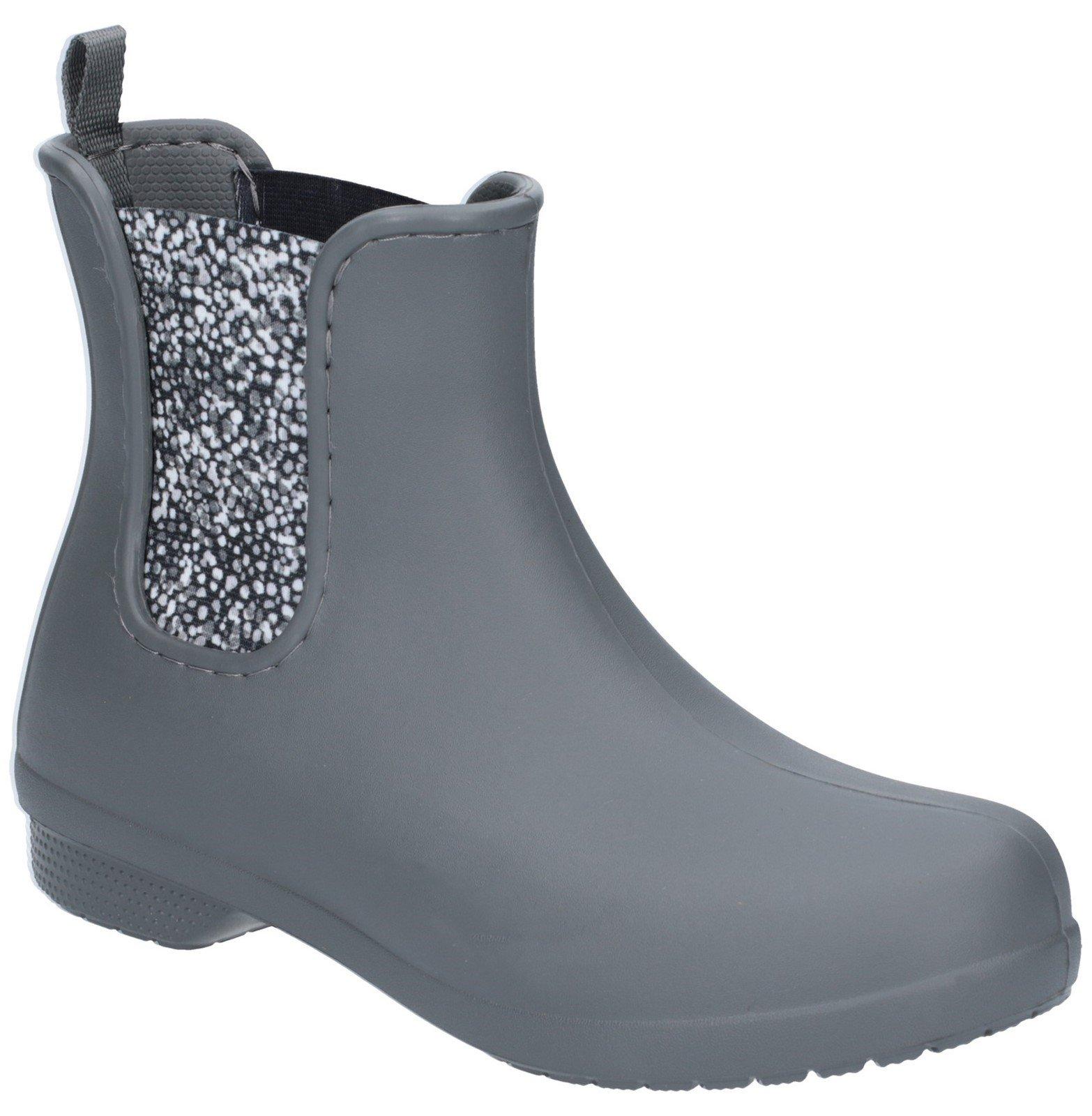 Crocs Women's Freesail Chelsea Boot Various Colours 27504 - Slate Grey/Dots 3