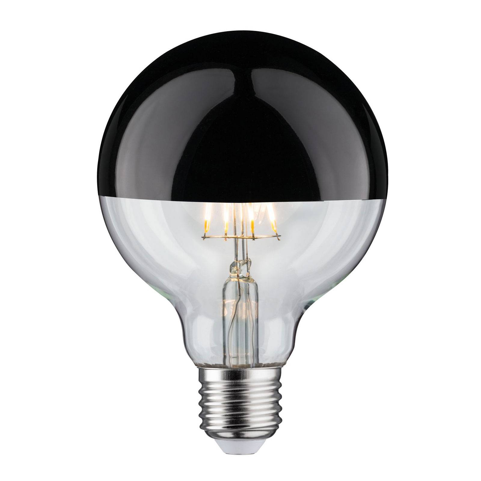 LED-lamppu E27 827 6,5W pääpeili, musta kromi
