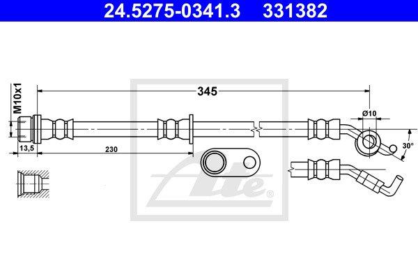 Jarruletku ATE 24.5275-0341.3