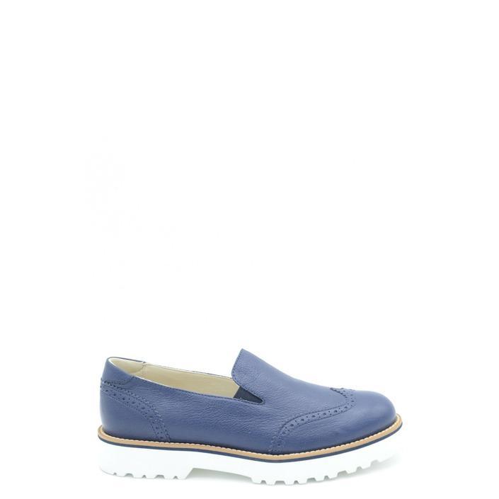 Hogan Women's Flat Shoe Blue 164944 - blue 35.5