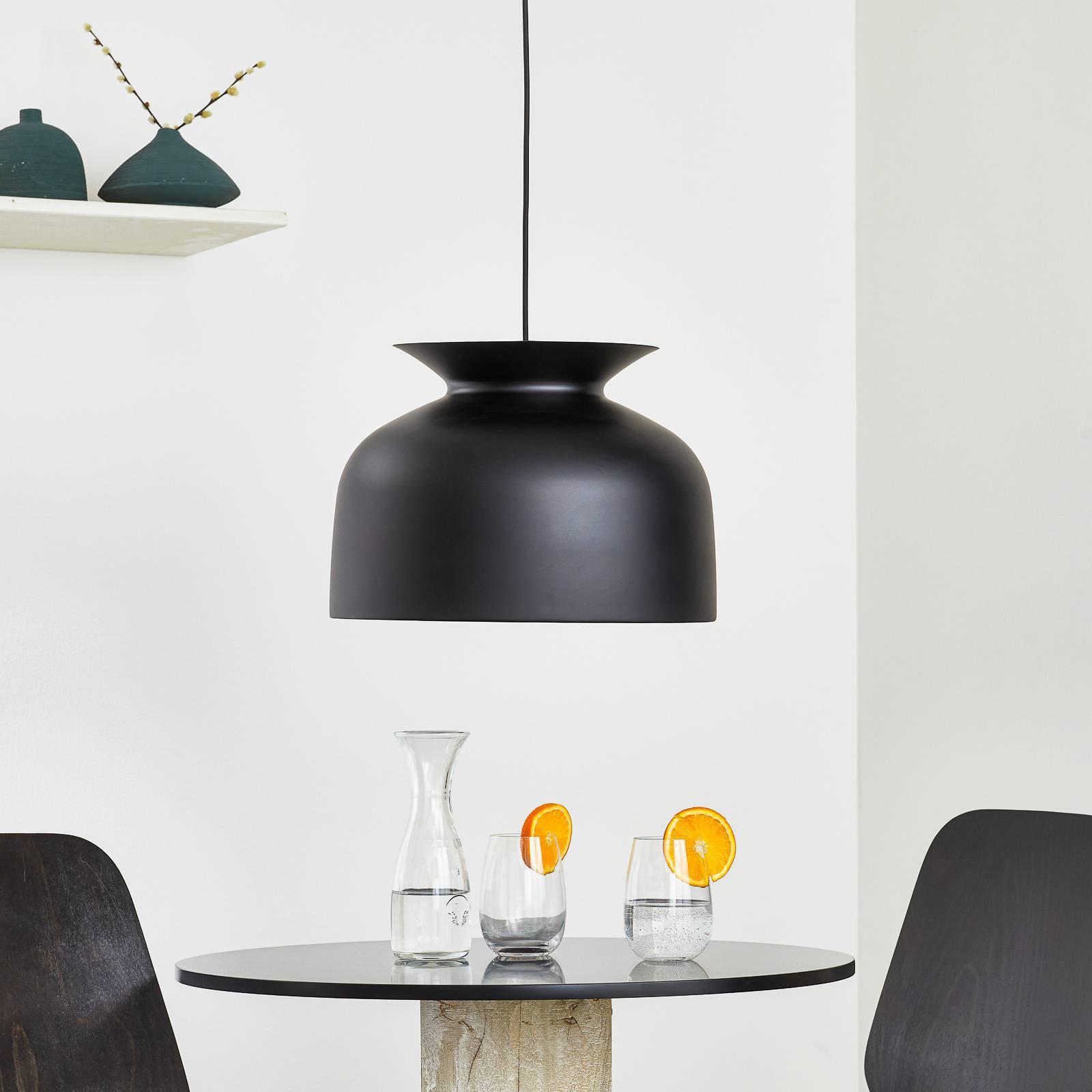 GUBI Ronde hengelampe, Ø 40 cm, svart