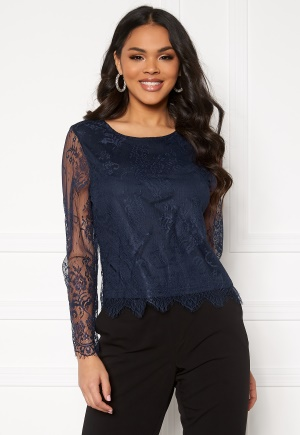 ONLY Lillie Lace Top Night Sky 34